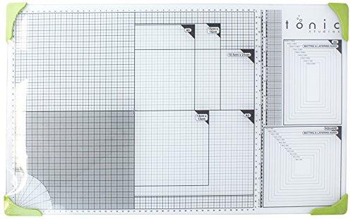 tonic-studios-352e-base-di-taglio-in-vetro-formato-a3-colore-bianco-verde