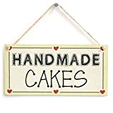 Handmade Cakes - Mum Mother Wife Kitchen Bakery Heart Sign