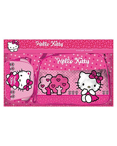 HELLO KITTY Set de viaje con bolsa y neceser