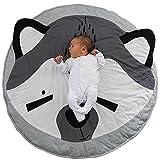 Baby Krabbeldecke, Babydecke Kuscheldecke Spielmatte Spieldecke Kinderteppich Matt Kinderzimmer Kinderteppich Dekoration 95cm - Fuchs