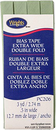 Wright's Double Fold Bias Tape 1/2 X3yd-Sage (Wrights Double Fold Bias Tape)