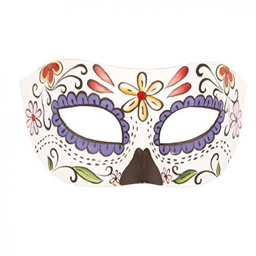 Lively Moments Augenmaske dia de los muertos/Tag der toten bunt verziert in malerischer Optik/Halloween/Fasching