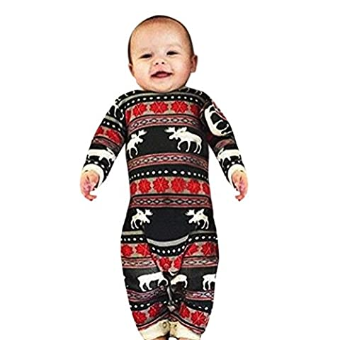 TPulling Kinder Baby Weihnachten Hirsch Gedruckt Anzug Kleidung Set Hooded Tops + Pants Outfit (18, (Cosplay Haus Kostüme)