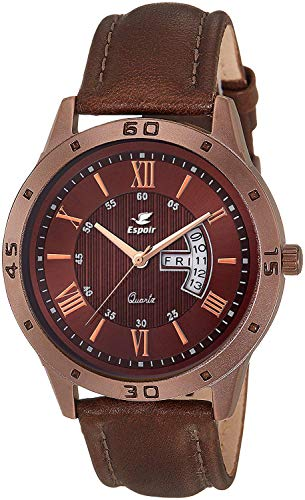 Espoir Analogue Brown Dial Day and Date Men's Boy's Watch - Ari...