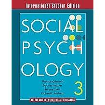 Social Psychology (3rd Edition) by Tom Gilovich (2012-12-14)