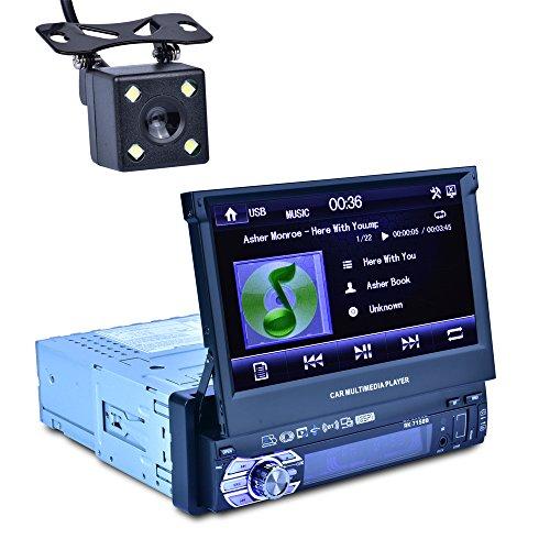 Reakosound Reproductor MP5 7158B de 7 pulgadas para automóvil con función retráctil...