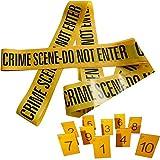 Kobe1 Crime Scene Novelty Barrier Tape(3m) and Photo Evidence Frames(1 to 10) (Cards)