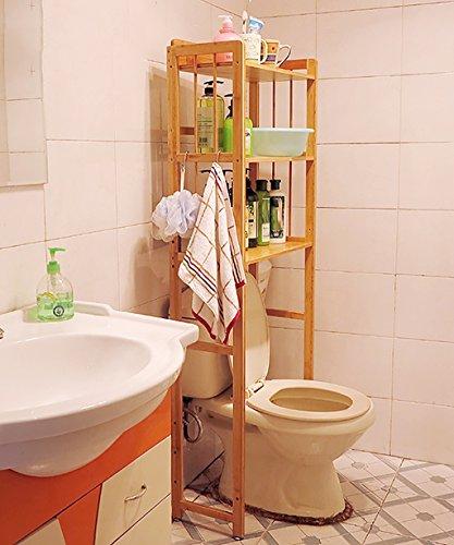 HAIPENG-zhiwujia Ensemble de Toilette en Bambou Vasque de Salle de Bain Ensemble de Rangement Ensemble de Machine à Laver 2 Tailles en Option (Taille : 53 * 26 * 150cm)