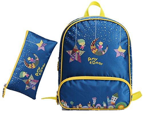 Preisvergleich Produktbild AMY & BEAR Kinder-Rucksack mit GRATIS Federtasche