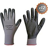 Confezione da 12 guanti Goodyear in filato di nylon elasticizzato con palmo  ricoperto in schiuma di 63a9e9f51d21