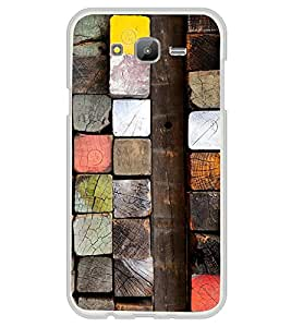 Colourful Wooden Blocks 2D Hard Polycarbonate Designer Back Case Cover for Samsung Galaxy On5 (2015) :: Samsung On 5