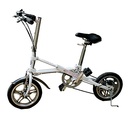 AdraXx Super Folding Bike For City And Vacations With 7 Speed Gears (White)