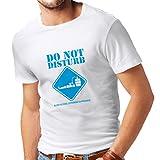 lepni.me Maglietta da uomo Alcol del sangue Esperimento in progresso - camicie divertenti da bere (Small Bianco Blu)