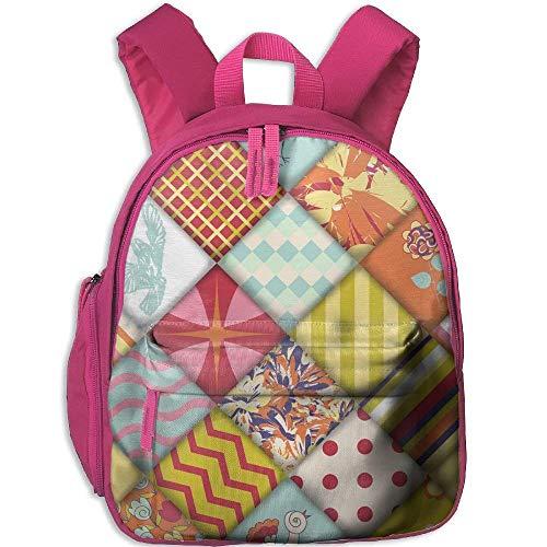 Kindergarten Rucksack Vintage Quilt Block Kinder Schultasche -