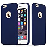 Cadorabo Hülle für Apple iPhone 6 / iPhone 6S - Hülle in Candy DUNKEL BLAU – Handyhülle aus TPU Silikon im Candy Design - Silikonhülle Schutzhülle Ultra Slim Soft Back Cover Case Bumper