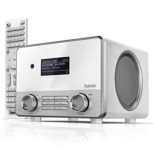 """Hama Internetradio """"IR111M"""" (WLAN/LAN, Fernbedienung, USB-Anschluss mit Lade- und Wiedergabefunktion, Weck- und Wifi-Streamingfunktion, Multiroom, gratis Radio App) weiß"""