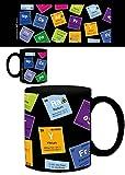 1art1 Set: Periodensystem der Elemente, Kohlenstoff, Barium, Brom, Radium, in Englisch Foto-Tasse Kaffeetasse (9x8 cm) Inklusive 1x Überraschungs-Sticker