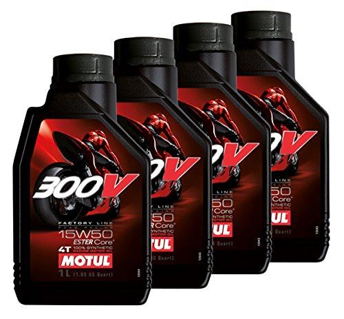 Offerta 4 Litri Olio Motore Motul 300V 15w50 4T Factory Line Racing 100% Sintetico