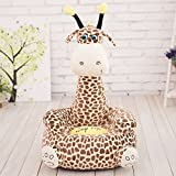 IIWOJ Kinderstuhl Plüsch Giraffe Kleines Sofa Mode Geschenk,Brown