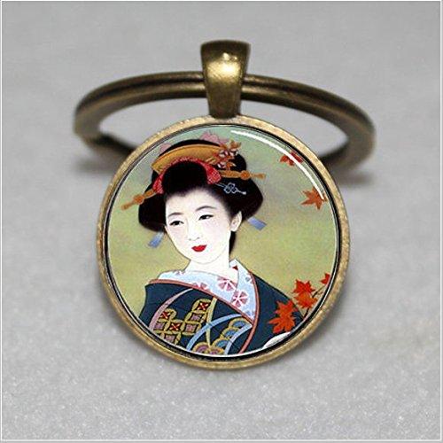 Japanische Geisha, Geisha, Geisha Schlüsselanhänger  Einzigartige Schlüsselanhänger Key Ring Geschenk  Everyday Schlüsselanhänger Key kette