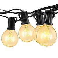 Outdoor Globe String Festoon Lights Mains Powered G40 Bulbs 25FT Warm White for Garden Patio Tomshine (Outdoor String Light)