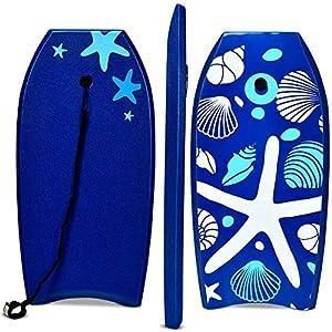 COSTWAY Bodyboard, Schwimmbrett Schwimmboard, Surfbrett Kinder, Surfboard,...