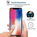 Bovon Verre Trempé pour iPhone XS / iPhone X, [3D Couverture Complète] [Dureté 9H] [Sans Bulles d'Air] Ultra Clair Anti-Rayures Écran Protecteur Vitre pour iPhone XS / iPhone X (5.8 Pouces) 2018