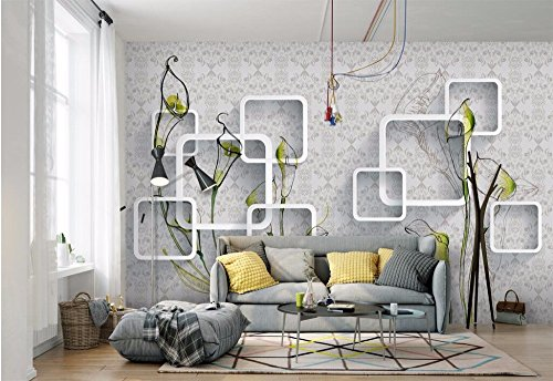 WH-PORP Custom Photo 3D Wall Murals Papel pintado Callas Box Pattern  Painting Home Decor Picture Papel pintados For Walls 3D Living  Room-350cmX245cm