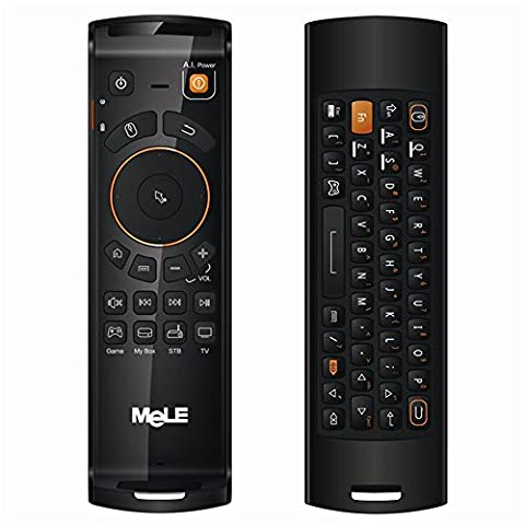 TopDiscover Mele F10 Deluxe USB 2.4 GHz Wireless IR Remote Fly Air Mouse Keyboard with IR Learning Function