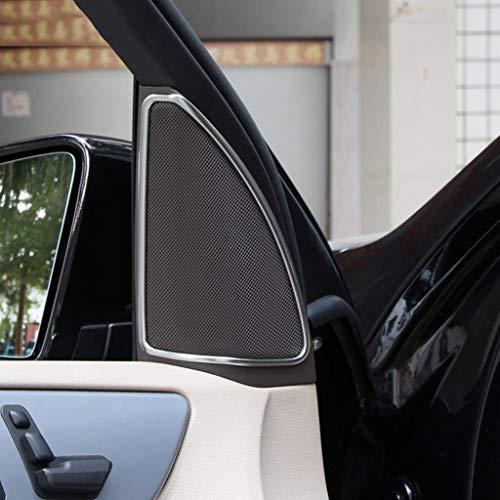 ABS Chrome en Plastique Haut-Parleur De Voiture Porte Garniture Garniture Autocollant Accessoires Argent Mat pour ML W164 350 400 GL X164 450 2013-2016
