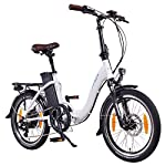 "51VJv32l%2BuL. SS150 NCM Paris 20"" Bicicletta elettrica Pieghevole, 36V 15Ah 540Wh Bianco"