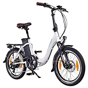 "51VJv32l%2BuL. SS300 NCM Paris 20"" Bicicletta elettrica Pieghevole, 36V 15Ah 540Wh Bianco"