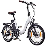 "NCM Paris 20"" Bicicletta elettrica Pieghevole, 36V 15Ah 540Wh Bianco"