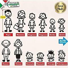 Idea Regalo - Adesivi personalizzati Famiglia
