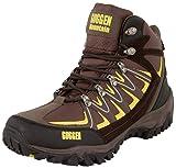 Zapatillas de Senderismo Zapatos para Caminar Botas de Monta-a Zapatos de Montana Nordic Walking Unisex Hombre Mujer GUGGEN MOUNTAIN M009, Amarillo-Marron, EU 45
