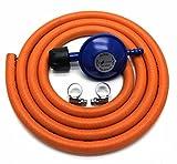 Campingaz, regolatore del gas, tipologia da 30Mbar, con tubo flessibile di 2m + 2fascette fermatubo adatte per 907904901
