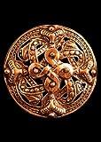 Wikinger Fibel Vier Elemente aus Bronze Gewandschließe Mystische Brosche Wikinger Gewandschmuck Fibel LARP