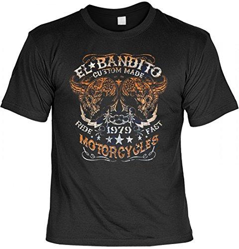 T-Shirt - EL Bandito Motorcycles - Qualitäts Shirts mit Motiv für echte Biker - Auch als Geschenk Schwarz, Größe:XXL