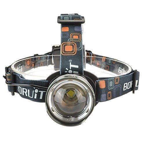 SISVIV XM-L T6 LED Stirnlampe USB Wiederaufladbar Superhell Kopflampe Taschenlampe mit 3 Lichtmodi Focus Wasserdicht für Camping, Mountainbiking, Klettern, Jagd und mehr(4 Farbe)