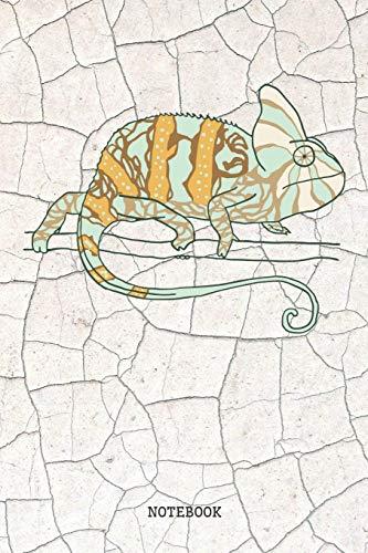 Notebook: Funny Chameleon Lizard Planner / Organizer / Lined Notebook (6