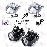 Faretti LED Moto Supplementari faro di profondità + Staffe brackets in METALLO 360° brackets novità 2019 Smartbomb
