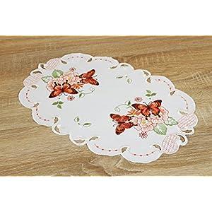Kamaca Serie Lovely Butterflies bestickte Schmetterlinge und Blumen halbtransparent Küchengardine Panneaux EIN…