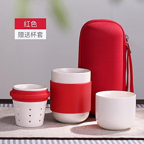 Oneisall Gybl147 200 ml Style chinois en porcelaine fait à la main Kung Fu Tasse de thé, feuilles de thé en céramique Tasse à thé avec système de préparation – Magnifiquement conçu de haut Tasse à thé avec couvercle