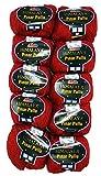 Pinar Pullu Lot de 10 pelotes de laine à paillettes, 10 x 50 g, 500 g, 31 % de laine Rot 61006