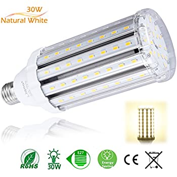 Liqoo 30W Bombilla LED E27 Lámpara Blanco Natural Neutral 4000K AC 85-265V Ángulo de