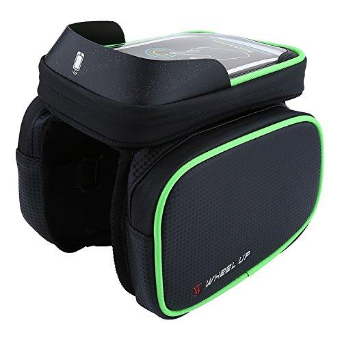 Fahrrad Tasche Wasserdichte Handytasche bis 6,2 Zoll Oberrohrtasche für Radfahrren Grün