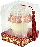 Glas-Lampe mit Kerze, ROT/GOLD, Design: ENGEL In Geschenkkarton. 11x8x8cm. Ein tolles Geschenk für Weihnachten.