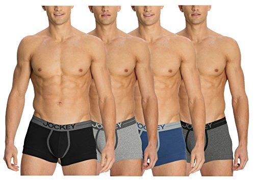 Jockey Comfort Plus Modern Trunks - Assorted Pack Of 4 (colors May Vary)