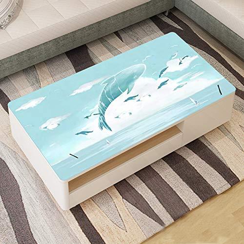 edruckt PVC Tabelle Tuch, Haushalt Öl-Beweis Crystal Platte Wasserdicht Tischtuch Vinyl Couchtisch Protector Matte Pad-c 90x140cm(35x55inch) ()