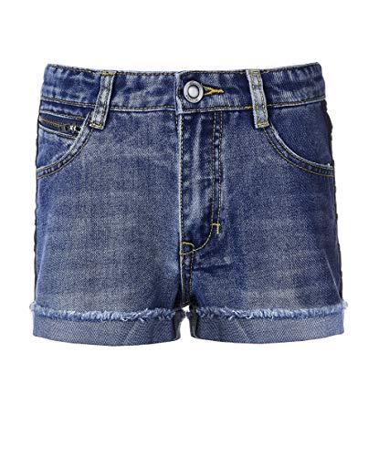 Perlen Baumwolle Shorts (GULLIVER Mädchen Jeans Shorts | Farbe Blau | Kurz | mit Seitenstreifen und Perlen | Baumwolle | für 8-13 Jahre)